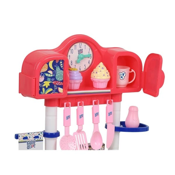 Baby Alive Pretend Play Baby Doll Kitchen Set With Cooking Accessories Overstock 27982180
