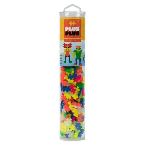 Plus-Plus - 240 Piece Neon Color Mix Building Set Play Tube