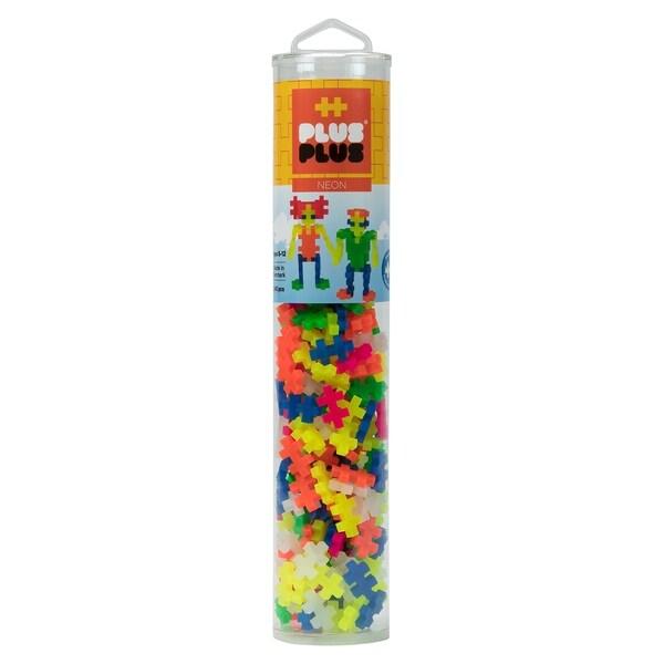 Plus-Plus - 240 Piece Neon Color Mix Building Set Play Tube. Opens flyout.