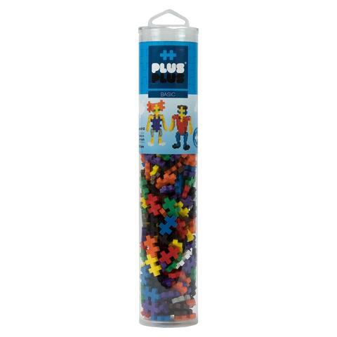 Plus-Plus - 240 Piece Basic Color Mix Building Set Play Tube