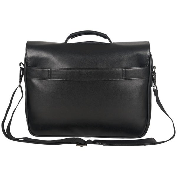 8f506a222 Kenneth Cole Reaction Faux Leather Single Compartment Flapover 15.6-inch  Laptop Case Messenger Bag