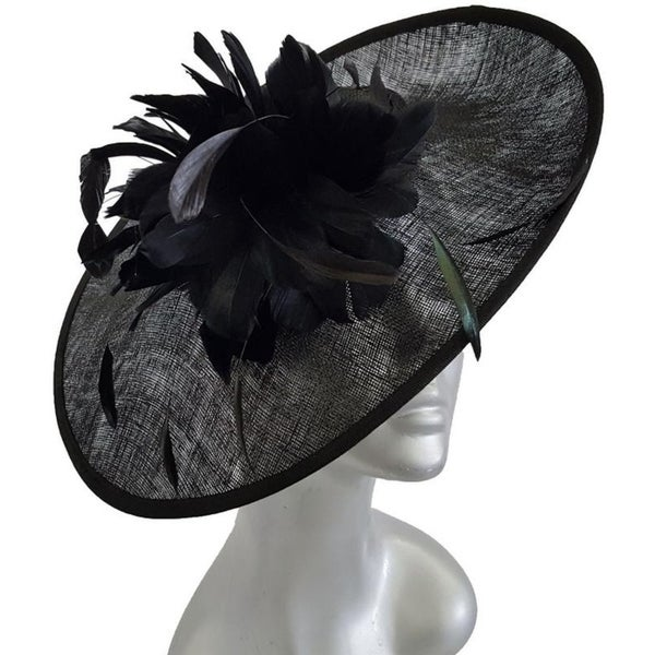 0175a8ea8ef0a Special occasion or Kentucky Derby cocktail fascinator synamay straw hat