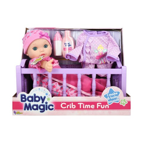 Baby Magic Toy Baby Doll Crib Time Fun Play Set