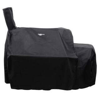 Oklahoma Joe's Char-Broil Black Grill Cover 57 in. W x 38 in. D x 53 in. H For Oklahoma Joes Highland Offset Smoker