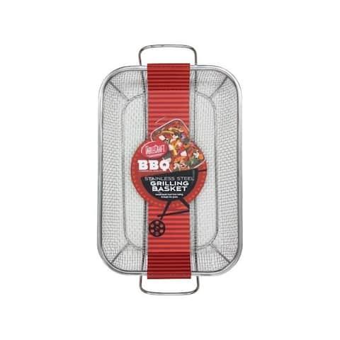 Tablecraft BBQ Silver Rectangular Grilling Basket