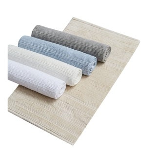 Charisma Luxe Cotton Handcrafted Cotton Bath Rug - 20 x 32