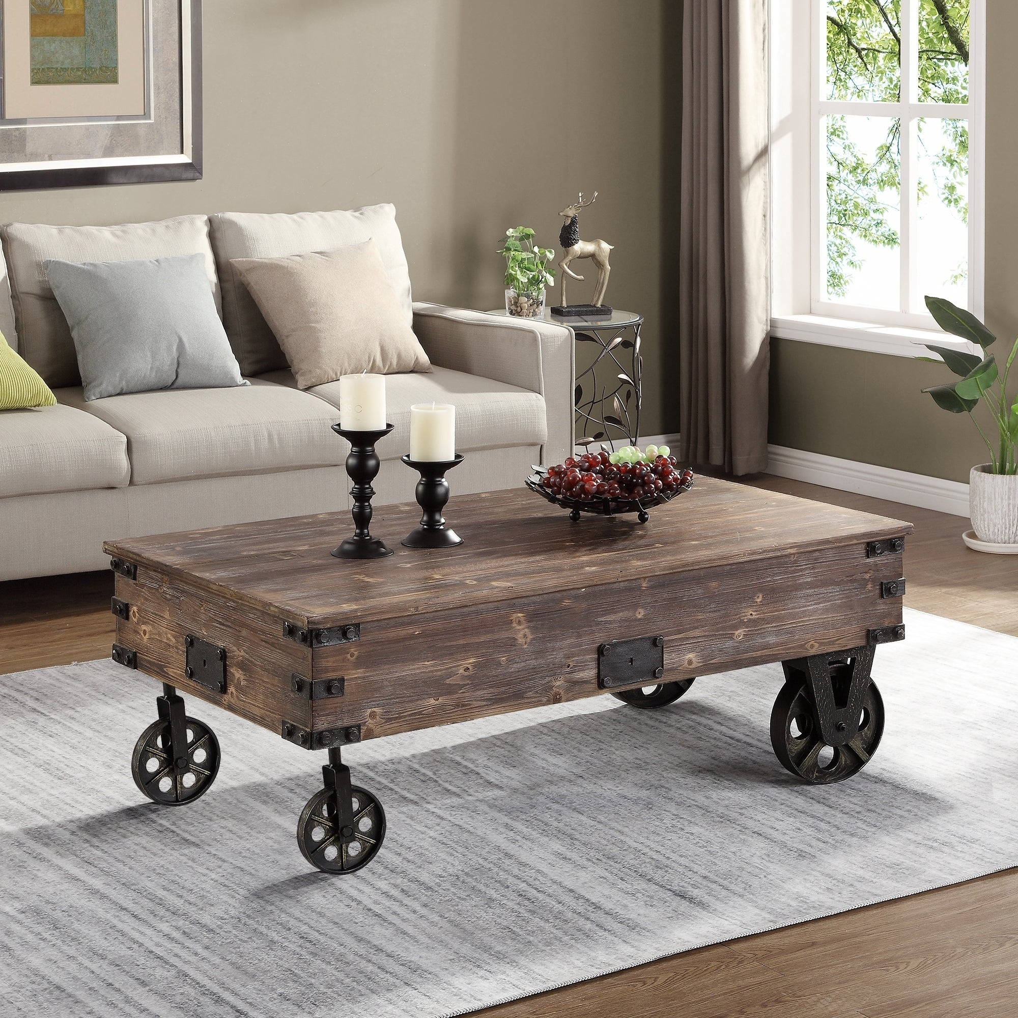 Firstime Co Factory Cart Coffee Table 45 X 17 29 5