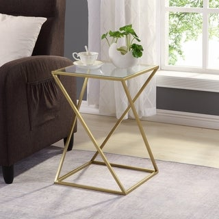FirsTime & Co.® Geometric Gold Table