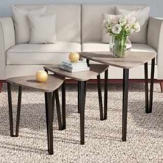 Carson Carrington Mortbol Modern Wood Nesting Tables (Set of 3)