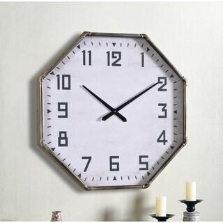 "Piper 28 Inch Diameter Vintage Metal Oversized Wall Clock - 28"" Dia."