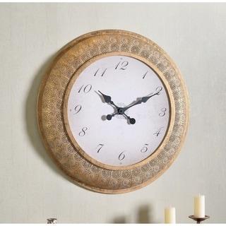 "Kelly 30 Inch Diameter Gold Round Oversized Wall Clock - 30"" Dia."