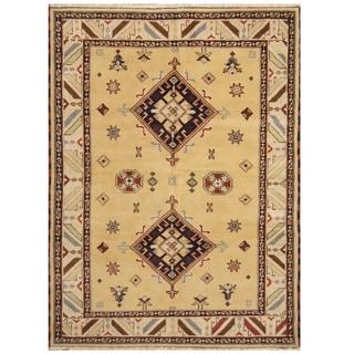 Handmade One-of-a-Kind Kazak Wool Rug (India) - 5'8 x 7'10