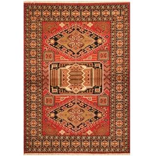 Handmade One-of-a-Kind Kazak Wool Rug (India) - 4'7 x 6'7