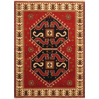 Handmade One-of-a-Kind Kazak Wool Rug (India) - 4'9 x 6'5