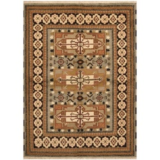 Handmade One-of-a-Kind Kazak Wool Rug (India) - 4'8 x 6'5