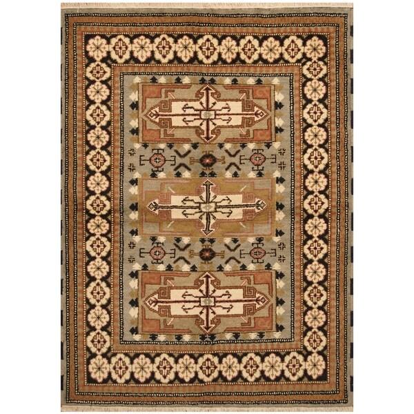 Handmade One-of-a-Kind Kazak Wool Rug (India) - 4'8 x 6'5