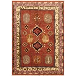 Handmade One-of-a-Kind Kazak Wool Rug (India) - 4'9 x 6'8