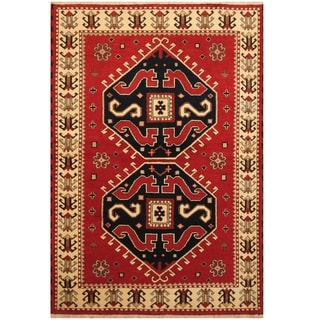 Handmade One-of-a-Kind Kazak Wool Rug (India) - 4'7 x 6'8