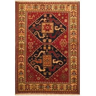 Handmade One-of-a-Kind Kazak Wool Rug (India) - 4'8 x 6'9