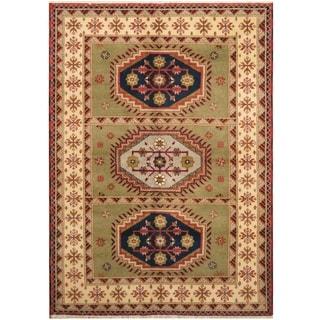 Handmade One-of-a-Kind Kazak Wool Rug (India) - 5'9 x 8'1