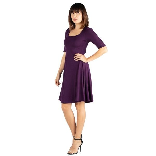 Purple Texture Tunic Jumper Dress Size 14-24 EVW2