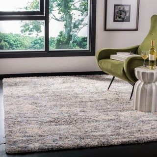 Safavieh Berber Shag Abstract Grey/Cream Rug - 5' x 7'