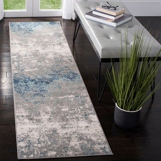 Safavieh Brentwood Vintage Abstract Light Grey/ Blue Rug