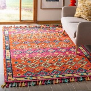 Safavieh Handmade Aspen Bohemian & Eclectic Tribal Orange/Fuchsia Wool Rug