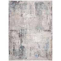 """Safavieh Dream Vintage Abstract Grey/Blue Polyester Rug - 2'6"""" x 4'"""