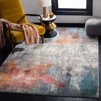 Safavieh Luxor Modern & Contemporary Abstract Ivory/Blue Rug