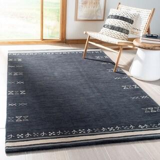 Safavieh Handmade Himalaya Modern & Contemporary Geometric Charcoal Wool Rug