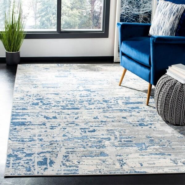 Safavieh Jasper Modern & Contemporary Abstract Ivory/Blue Rug