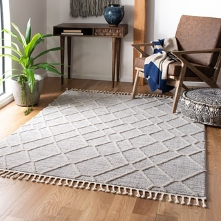 Safavieh Marrakech Bohemian & Eclectic Oriental Ivory/Grey Polyester Rug