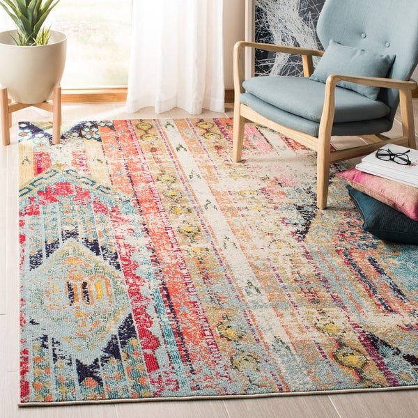 Safavieh Madison Vintage Tribal Blue/Orange Rug