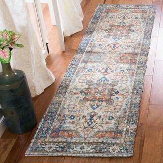 Safavieh Handmade Saffron Modern & Contemporary Oriental Grey/Blue Cotton Rug