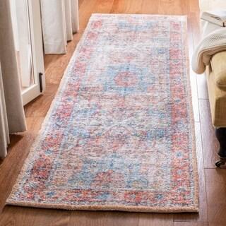 Safavieh Handmade Saffron Modern & Contemporary Oriental Rust/Blue Cotton Rug