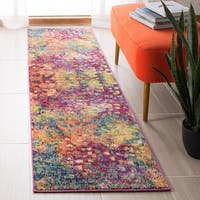 Safavieh Madison Vintage Abstract Fuchsia/Gold Rug