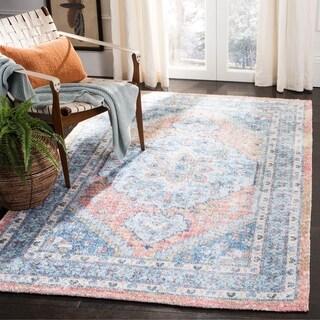 Safavieh Handmade Saffron Modern & Contemporary Oriental Blue/Rust Cotton Rug