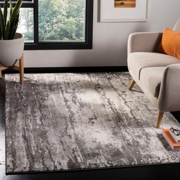 Safavieh Spirit Modern & Contemporary Abstract Grey/Dark Grey Polyester Rug - 3' x 5'