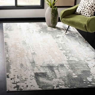 Safavieh Vogue Modern & Contemporary Abstract Beige/Charcoal Rug