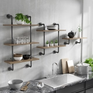 Carbon Loft Leyva Floating Ladder Wall Shelf