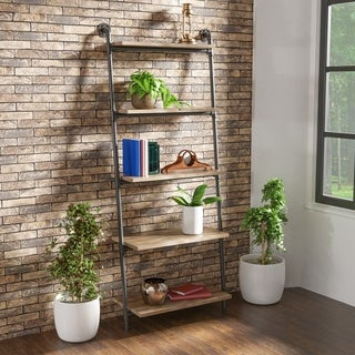 Carbon Loft Leyva 5-tier Leaning Ladder Shelf