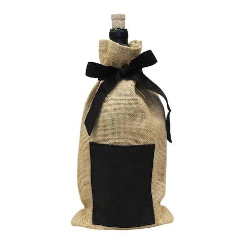 Jute Chalkboard Wine Bag (Pack of 4)