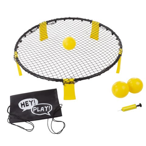 Battle Volleyball- Outdoor Adjustable Roundnet Tournament Set for Kids and Adults by Hey! Play!