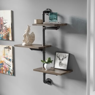 Carbon Loft Leyva 3-tier Floating Wall Shelf