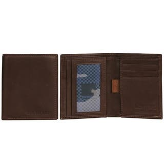 Ben Sherman Full Grain Cowhide Leather Slim Square Front Pocket Bifold Five Pocket Wallet - Multiple Colors Available