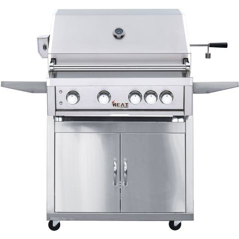 """Heat 32"""" 4-Burner Grill - LP With Cart"""