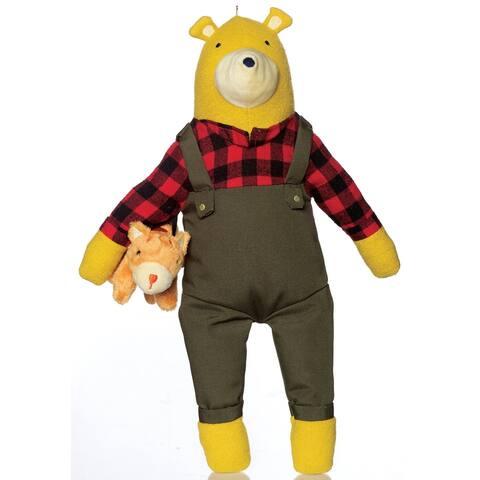 Lemon The Bear Kitty, Stuffed Animal Bear and Kitty 9 inch Toy