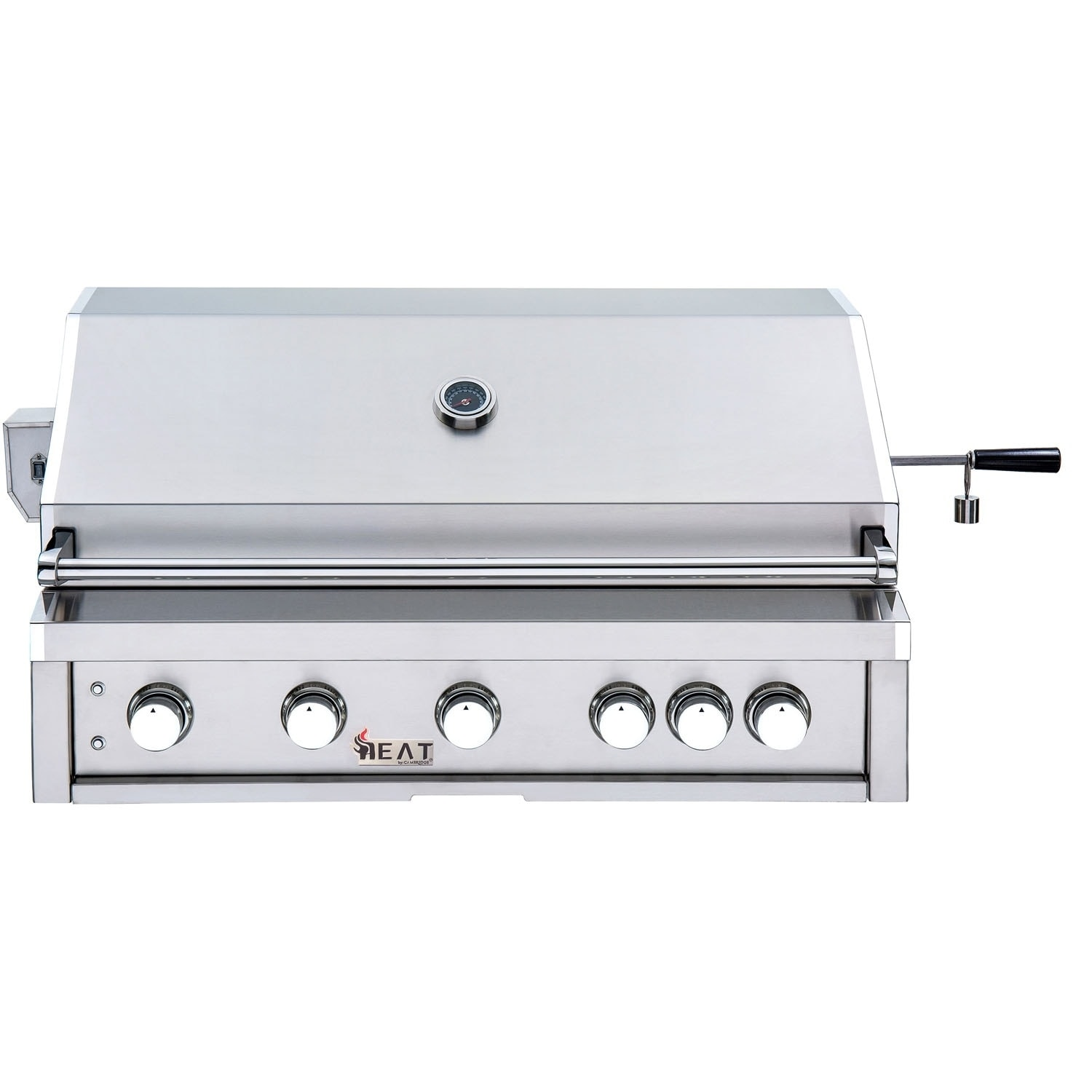 Heat 40 In Built In 5 Burner Liquid Propane Gas Grill In Stainless Steel With 1 Infrared Burner And Bonus Rotisserie Kit Overstock 27983235
