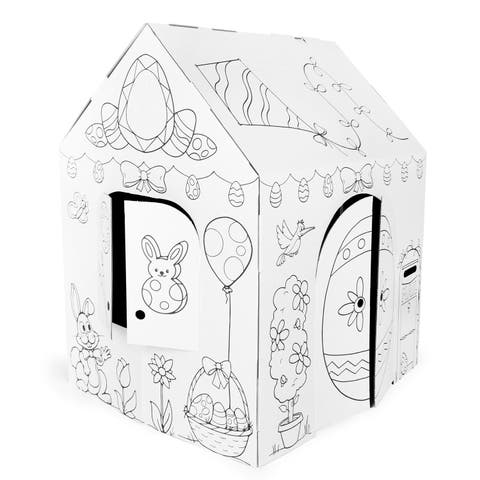 Easy Playhouse Easter (Spring) Cottage Cardboard Playhouse